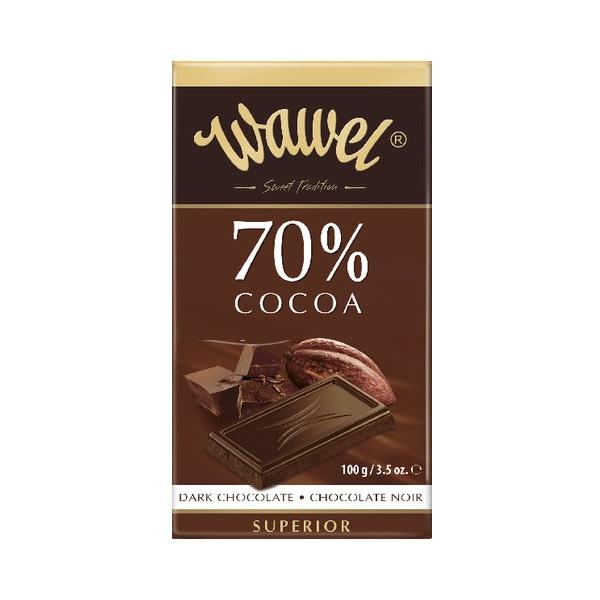 تابلت شکلات تلخ 70% واول