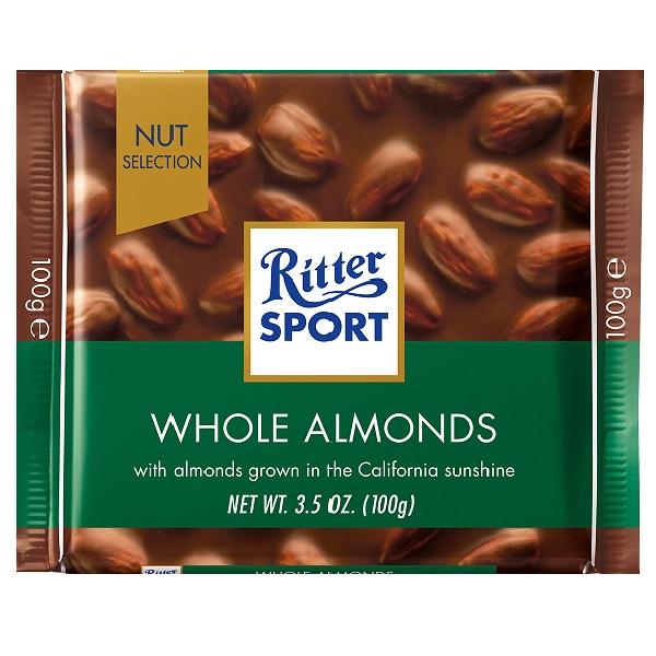 شکلات بادام کامل ریتر اسپرت